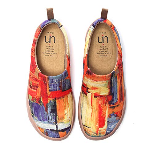 UIN Scarpe Ginnastica Scarpe Espadrillas Casual Slip on Mocassini Sneakers Basse Colorate in Tela Dipinta a Mano