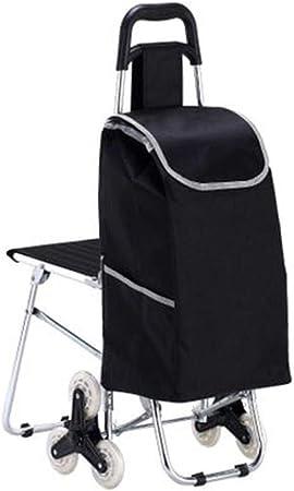 Pkfinrd Silla plegable para la compra con taburete, portátil ...