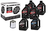 Maxima Racing Oils 90-119016C Chrome Maxima 90-119016C Twin Cam Synthetic 20W-50 Chrome Filter Complete Oil Change Kit, 6 quart, 1 Pack