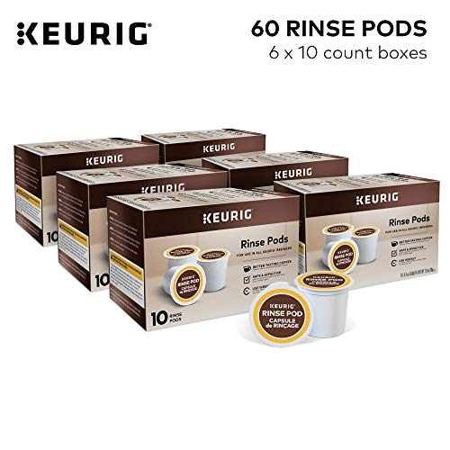 Keurig Rinse Pods, Reduces Flavor Carry Over, Compatible with Keurig Classic/1.0 & 2.0 K-Cup Pod Coffee Makers, 60 Count