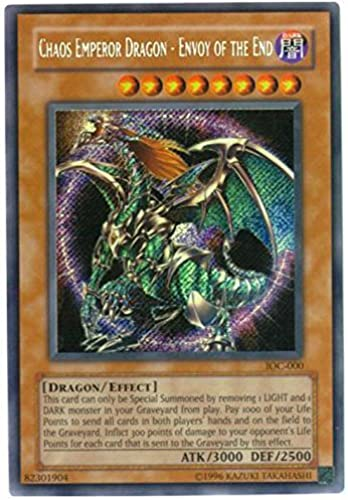 Yu-Gi-Oh  - Chaos Emperor Dragon - Envoy of the End (IOC-000) - Invasion of Chaos - Unlimited Edition - Secret Rare by Yu-Gi-Oh
