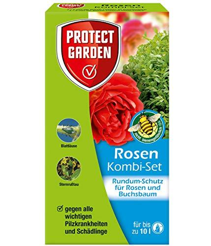 PROTECT GARDEN Rosen Kombi-Set (ehem. Bayer Garten) Rundum-Schutz Paket für Rosen und Buchsbäume sowie andere Zierpflanzen vor Pilzkrankheiten und Schädlinge, 130 ml