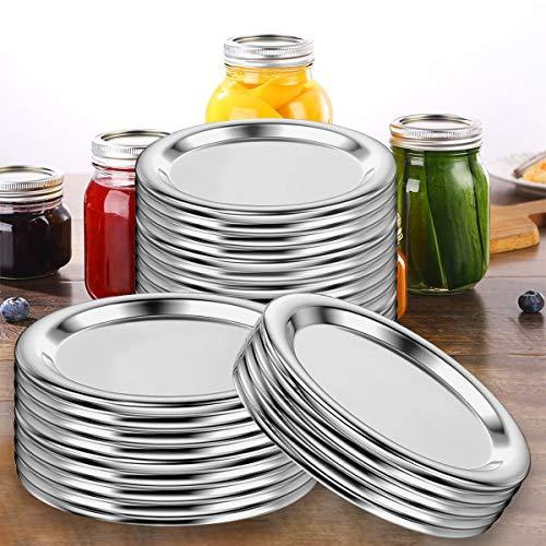 Canning Lids,120 PCS Regular Mouth Canning Lids, Mason Canning Jar Lids, Reusable Leak Proof Split-Type Lids for Ball, Food Grade Material
