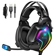 7.1 Surround sound for immersive gaming exprience. Get rid of poor sound performance, hear anything from every loud explosion and blast to the discreet footsteps of an enemy, enjoy your virtual gaming world. 720° sensitive noise isolation mic so that...
