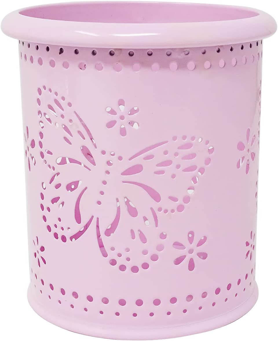 yueton Hollow Butterfly Pattern Metal Pen Pot Holder Cup Ranking integrated 1st place Pencil Beauty products