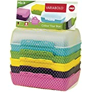 Emsa 509388 Lot de 3 pains, 6 demi-coques combinables, 16 x 11 x 4 cm, multicolores, Variabolo Mix it
