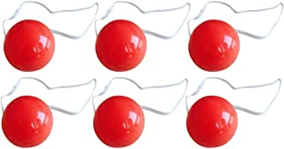 NUOBESTY 12pcs Clown Noses Light Up Clown Noses Blinking Reindeer Nose for Halloween Christmas Party Costume Red
