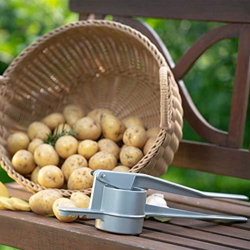 Westmark Kartoffel-/Spätzlepresse, Mit runder Lochung, Aluminiumdruckguss, Länge: 41 cm, Spätzlepress, Silber, 61102260
