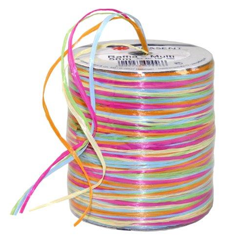Präsent - RAFFIA-Multicolour Bastband - kräftig - 50-m-Spule