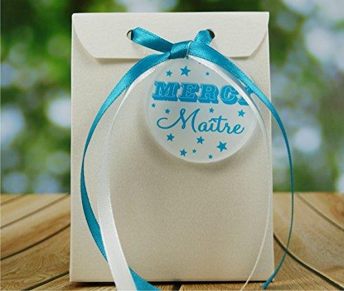 Boite de Chocolat garnie Merci Maître - Idée de Cadeau Original Fin d'Année Scolaire noël remerciement. L'école est finie ! Vive les Vacances ! BtEcC