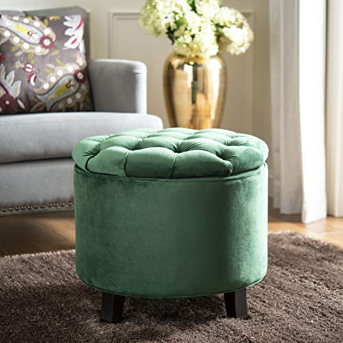 Safavieh Hudson Collection Amelia Tufted Storage Ottoman, Emerald