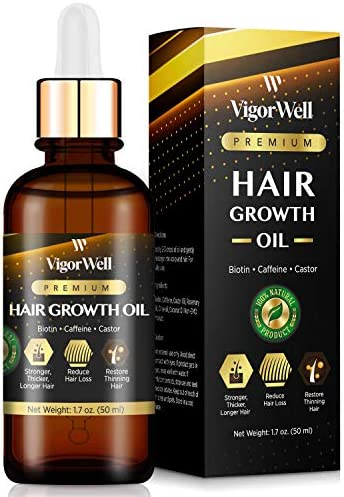 Hair Growth Oil Natural with Caffeine Biotin and Castor Hair Growth Oil for Stronger Thicker product image