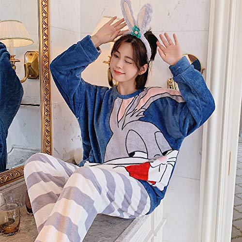 Cxypeng Damen Schlafanzüge Einfarbige,Langärmeliger Zweiteiliger Pyjama aus...