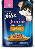 FELIX So gut wie es aussieht Junior Kittenfutter nass in Gelee, mit Huhn, 26er Pack (26 x 85g)