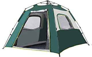 HJB VISSO Camping Tent 4 Person   Instant Tent with 60 Second Easy Setup   Automatic Camp Tent Outdoor   Pop up Tent Deser...