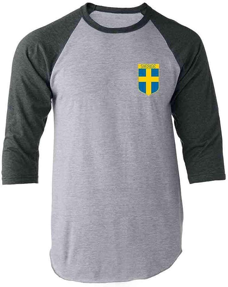 Sweden Soccer Retro National Team Swedish Raglan Baseball Tee Shirt