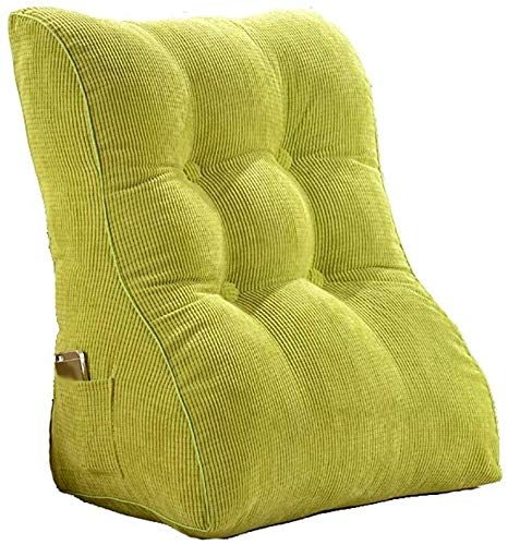 Auto lumbale kussen Triangle Wedge Cushion Bed, Bank rugkussens Bescherm Taille knuffel Pillow grote kussen (Color : Green)