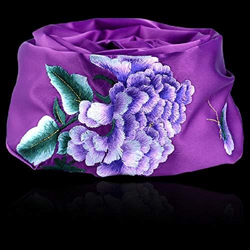 GangKun Chinese stijl, sjaals, kunsthandwerk, geschenken, borduurwerk, sjaals, banketten, sjaals, sjaals, cadeaus in het buitenland lila
