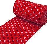 algodón con Estrellas Rojas, se Vende por Metros a Partir de 25 cm x 70 cm, Tela para Coser