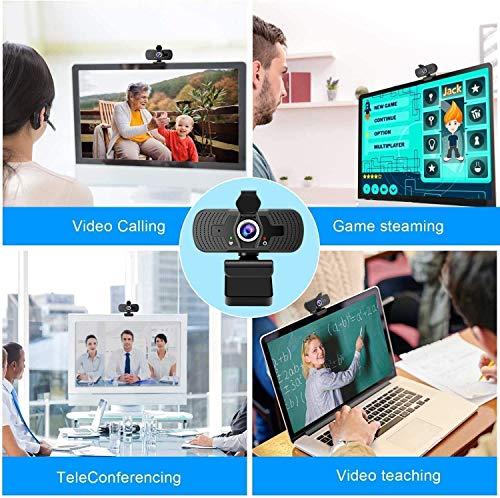 Ywcking Full Hd Webcam 1080p Videokamera mit Webcam Abdeckung,USB Webcam mit Eingebautes Mikrofon,Mini Plug and Play für Desktop,Notebook,ideal für Konferenzen,Live Übertragungen und Videoanruf