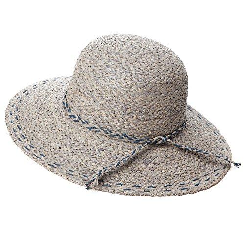 SIGGI Stroh Sommerhut mit Sonnen Shade für Damen schlaffer Strand Sonnenhut breite Krempe