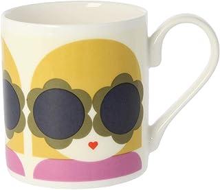 Orla Kiely Lola Mug Colour: Orla Kiely Yellow/Purple