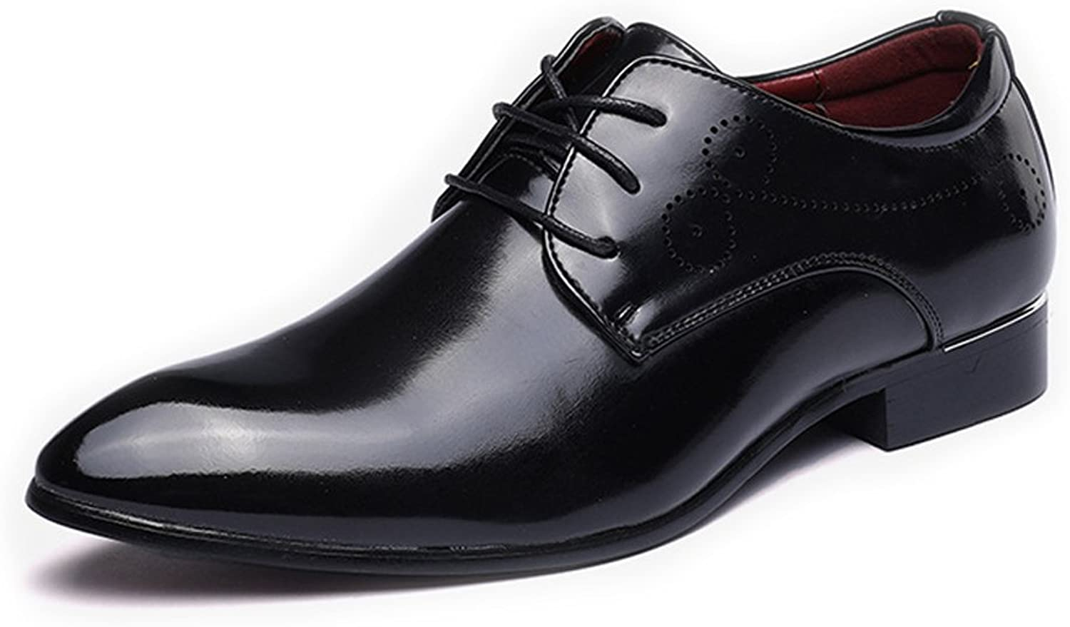 L.W.S Classic Men's Modern shoes Smooth Upper PU Leather Lace Up Pointed Toe Breathable Lined Oxfords