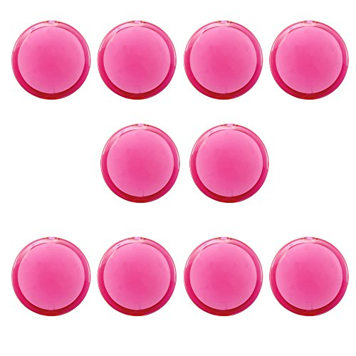 eBuyGB Lot de 10 miroirs grossissant Double Face pour Femme Rose