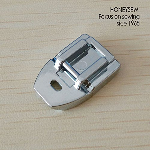 HONEYSEW Presser Foot for Will Fit Singer, Brother, Janome, Toyota, Etc Domestic Sewing Machines (Invisible Concealed Snap On Zipper Foot)