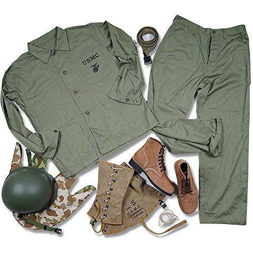 JXS Seconde Guerre Mondiale US Marine Corps Vêtements Équipement Set-Retro-Uniforme Militaire Veste Pantalon Casque Ceinture Bottes Leggings Couvre-Casque