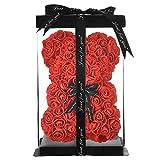 Rose Bear Rose Teddy Bear Best Gift for Valentines Day, Anniversary, Birthdays & Bridal Showers...