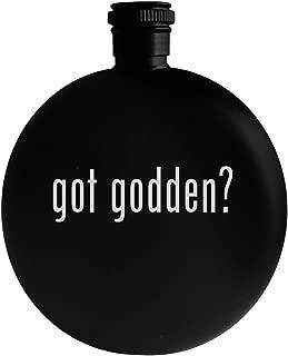 got godden? - 5oz Round Alcohol Drinking Flask, Black