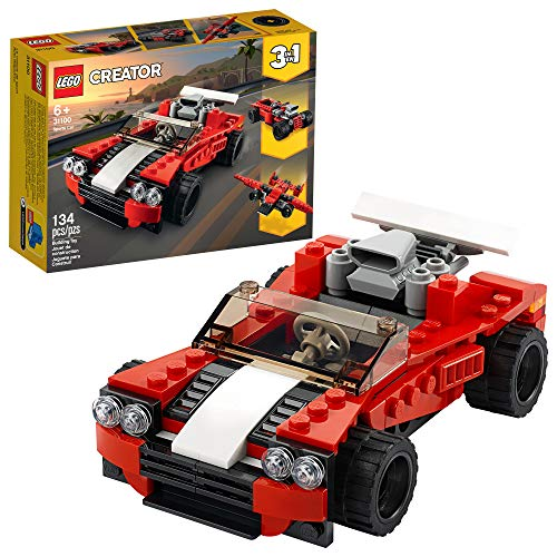 LEGO Creator 3in1 Sports Car Toy 31100 Building Kit, New 2020 (134 Pieces)