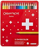 Caran D'ache Swisscolor color Pencils in Metal Box (Pack of 18)