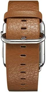 ساعة يد بسوار جلدي من تراندز لساعة ابل 38 ملم - بني