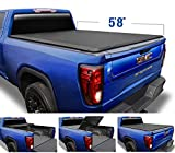 Tyger Auto Black Top T3 Soft Tri-Fold Truck Tonneau Cover for 2019-2020 Chevy Silverado/GMC Sierra 1500 New Body Style Fleetside 5.8' Bed TG-BC3C1053