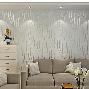WTD - Papel pintado para pared (10 m, no tejido), 3D, fotográfico, color marrón