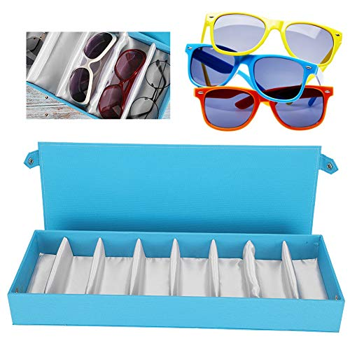 ZJchao - Caja organizadora de 8 rejillas para gafas de sol, caja organizadora de almacenamiento para gafas de sol, caja de almacenamiento para gafas de sol (lau)