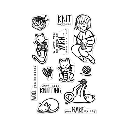 Hero Arts CLEAR STMP KNITTING, us:one size