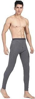 Inlefen Men's Thermal Bottoms Warm Pants Lycra Elastic Winter Outdoor Man Thermal Long John Underwear Ski Wear