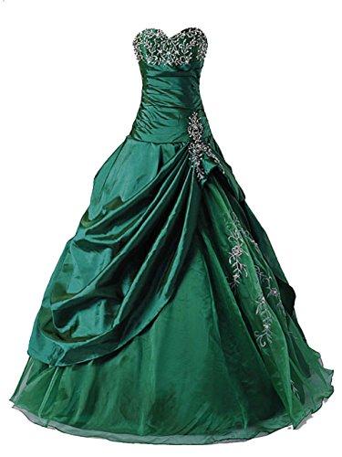 Vantexi Frauen Formellen Abschlussball Abend Kleid Ballkleid Prom Kleider Smaragd Größe 46