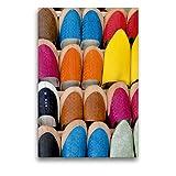 Premium Textil-Leinwand 50 x 75 cm Hoch-Format Babuschen - ein beliebtes Souvenir | Wandbild, HD-Bild auf Keilrahmen, Fertigbild auf hochwertigem Vlies, Leinwanddruck von Michaela Schiffer