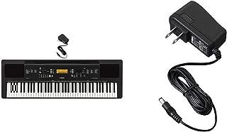 Yamaha NP12 61-Key Lightweight Portable Keyboard with Power Supply, Black
