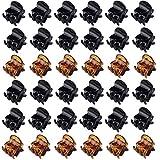 TUT Capelli in Plastica Pinze Grips Mini Mollettoni Capelli Clip Accessori per Artigli per Capelli per Ragazze e Donne - 36 Pezzi Nero e Marrone