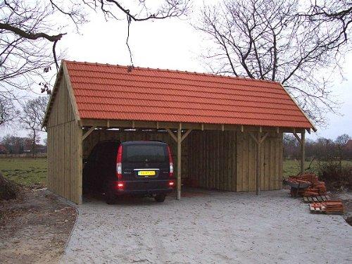 #Carport Satteldach SPA 600 x 800cm Bausatz – Geräteraum inklusive – Satteldachcarport#