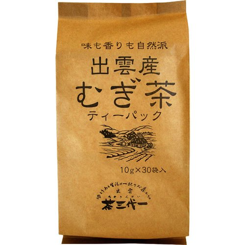 茶三代一 出雲産 麦茶ティーバッグ 10g×30包