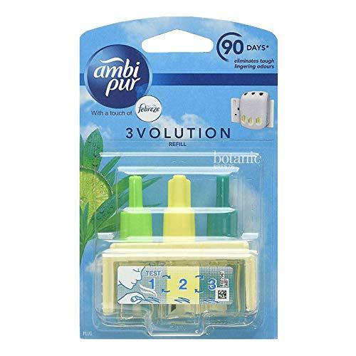 Ambi Pur 6er Pack 3volution Elektrische Nachfüllung für Lufterfrischer Botanic Breeze - 20 ml