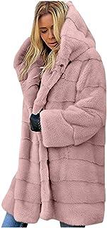$49 » Fammison Plus Size Women Warm Fleece Vintage Winter Coat Hood Jacket Parka Outwear Long Jacket Hooded Overcoat Pink
