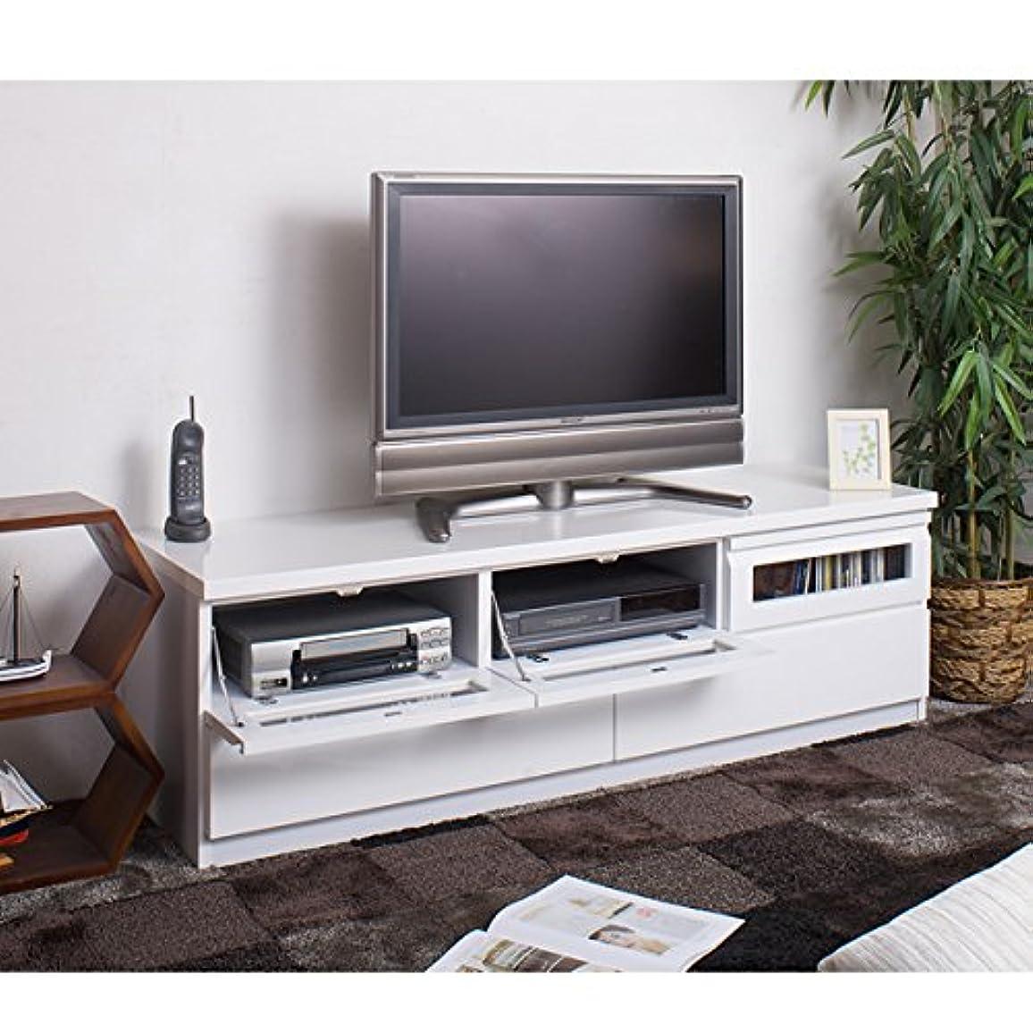 皿クルー重要性スタイリッシュTVボード 幅150cm ホワイト TE-0002
