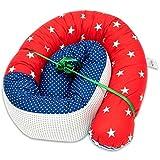 chichonera bebe cuna - cojin protector cuna chichonera (PATCHWORK rojo - azul,...